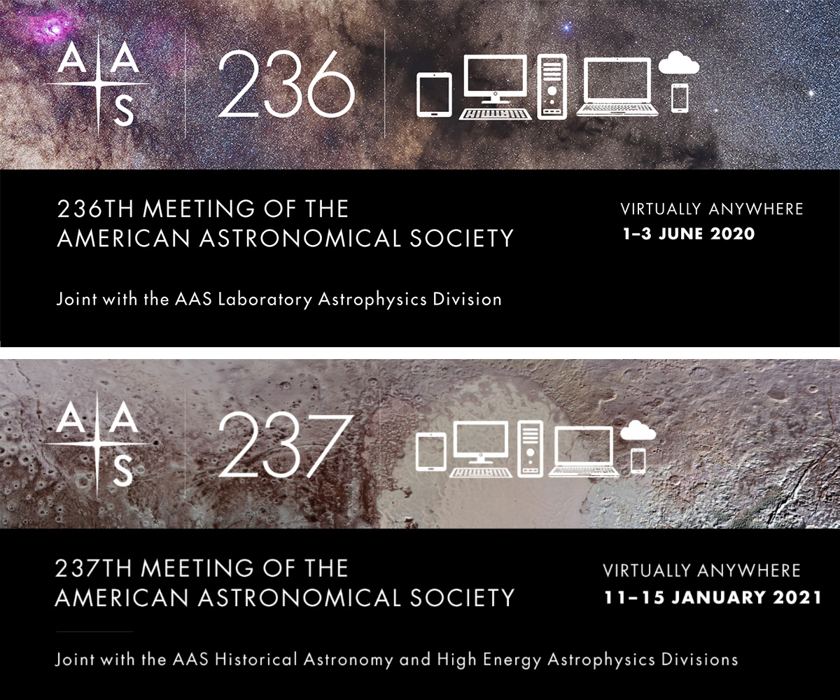 AAS 236 and AAS 237 Virtual Meeting Banners
