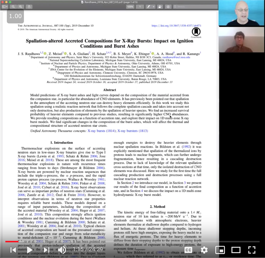 AAS Journal Author Chat Video