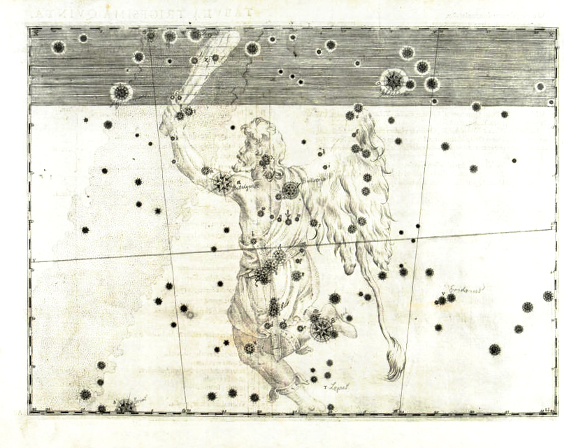 Orion star map from Bayer's Uranometria (Courtesy of the Linda Hall Library of Science, Engineering & Technology)