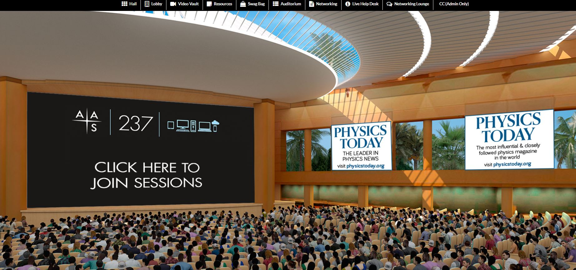Virtual Meeting Auditorium