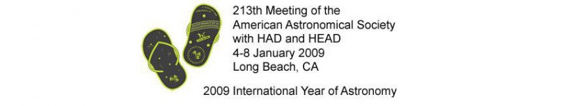 The 213th AAS meeting was held 4-8 January 2009 in Long Beach, CA.