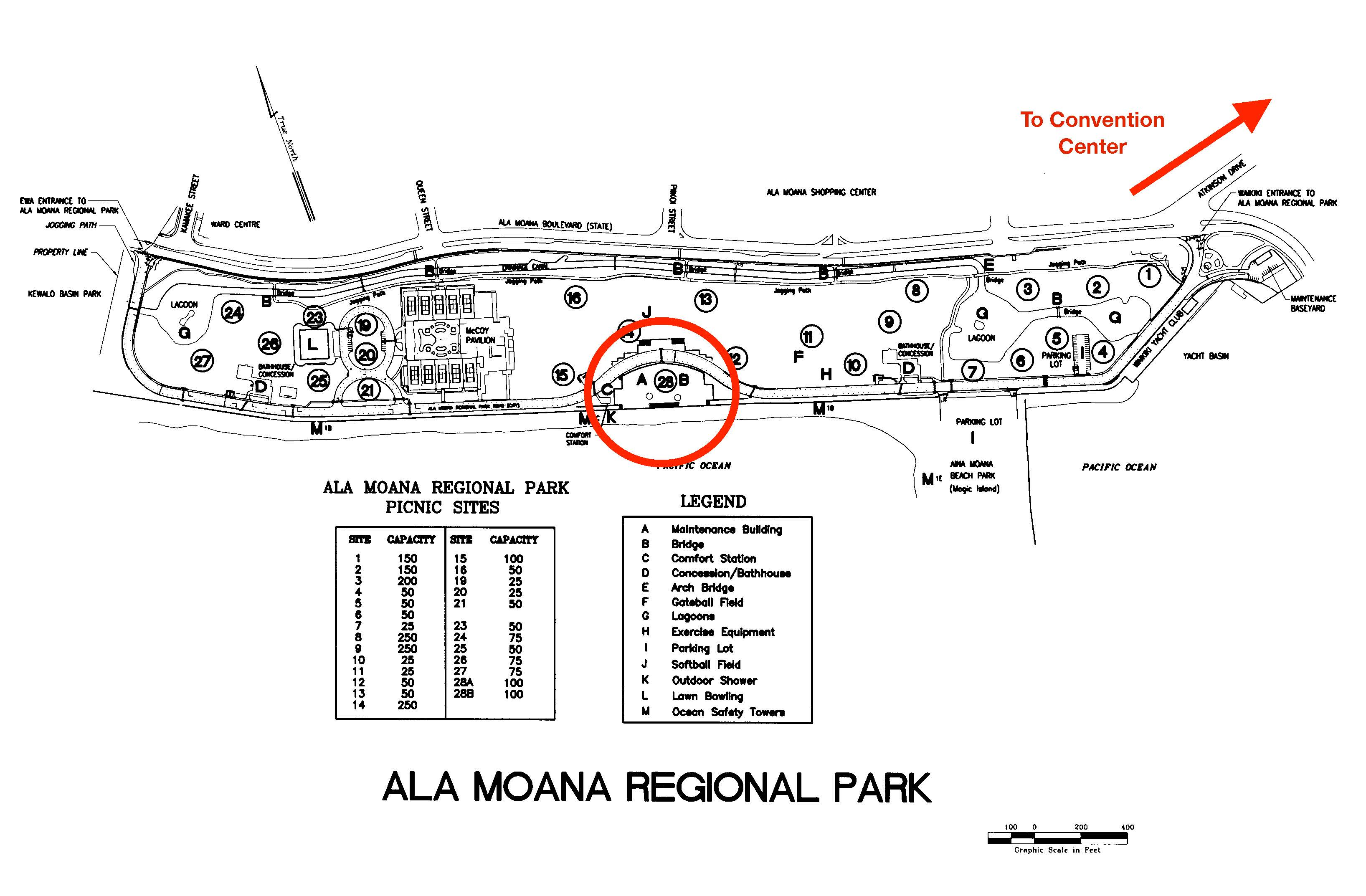 Ala Moana Park Stargazing Location Map