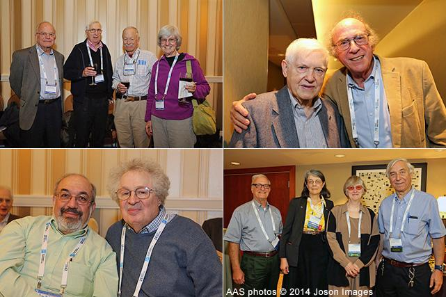 40+E members gather at each AAS meeting.
