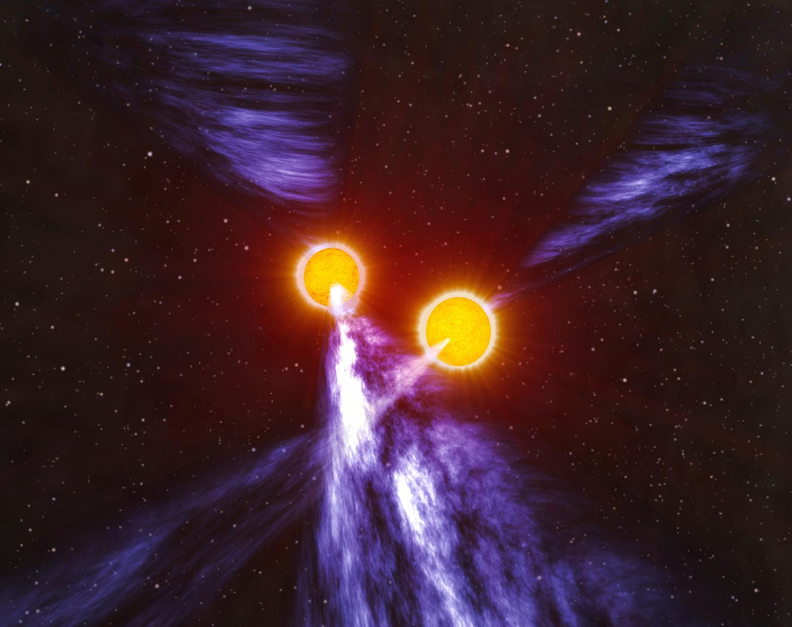 Binary Pulsar Illustration