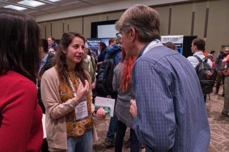 Attendees during the Student Orientation & Grad School Fair at AAS 233 in Seattle, WA